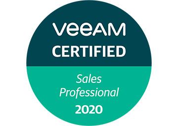 VeeAM certified Sales Professional 2020