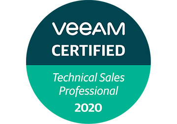 VeeAM certified Technical Sales Professional 2020