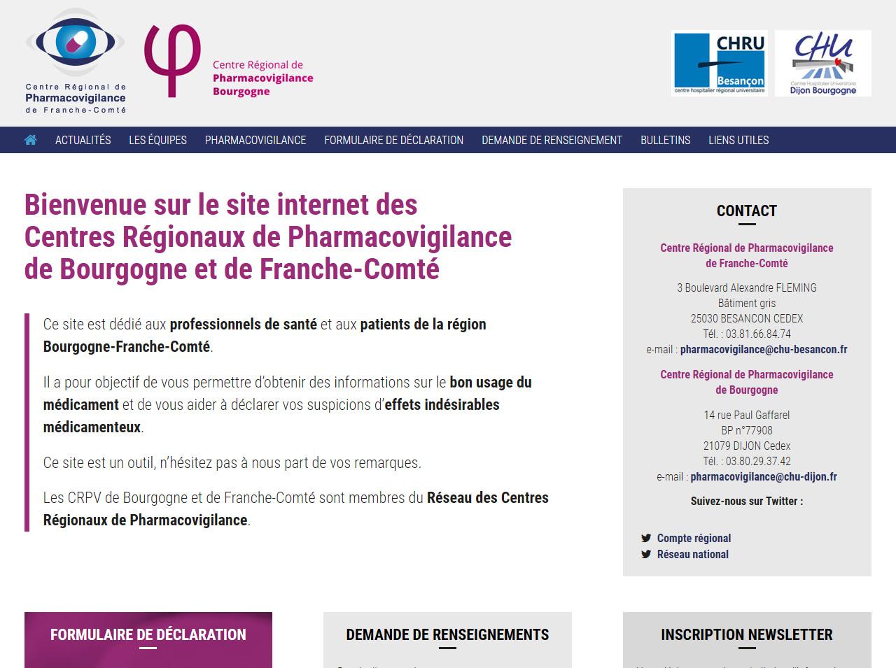 Refonte du site de la Pharmacovigilance Régionale
