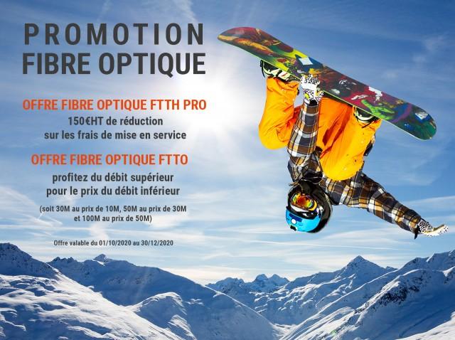 Promotion sur nos fibres optiques FTTH et FTTO