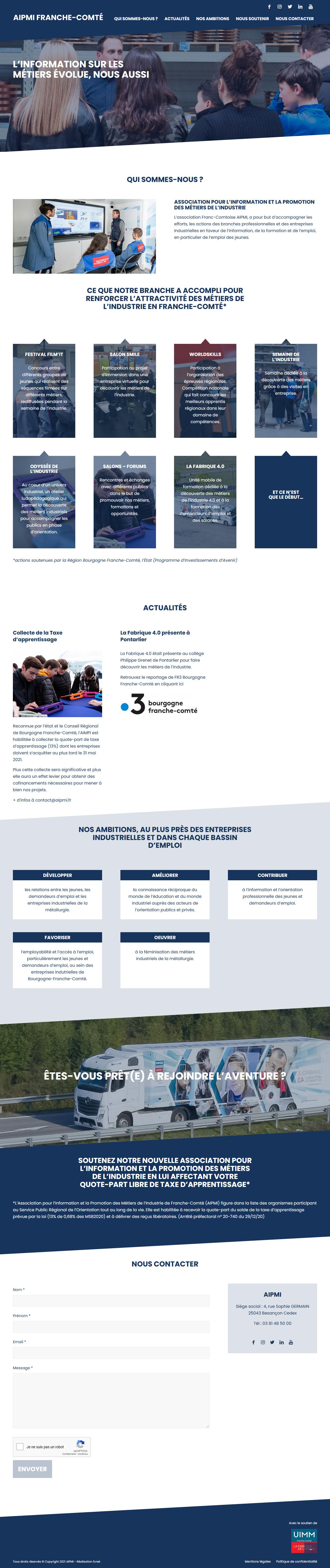 Création du site web - AIPMI