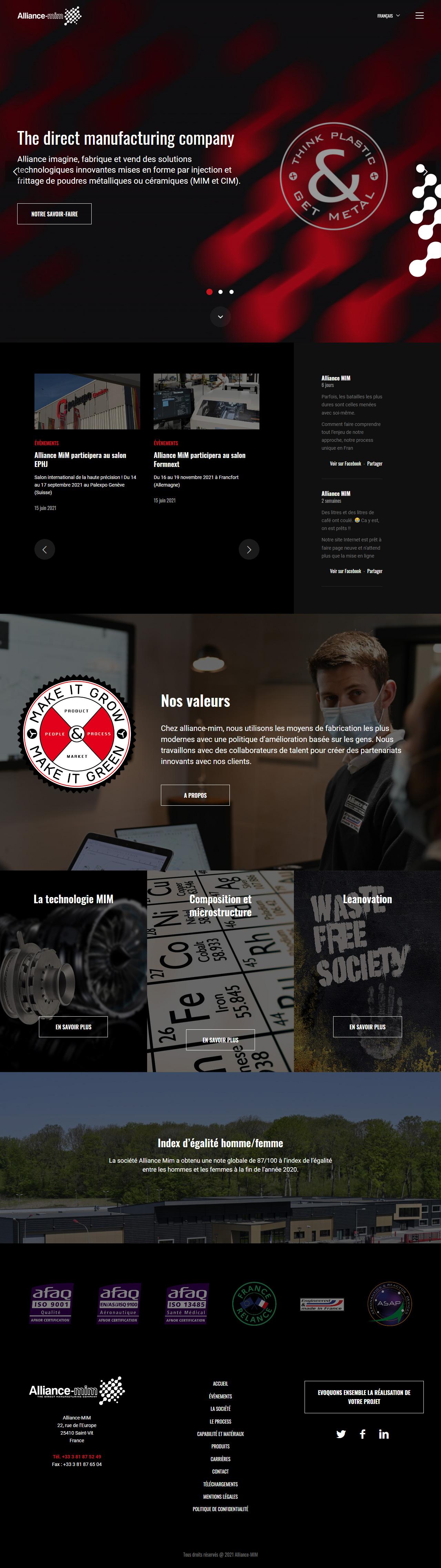 Refonte du site web - Alliance MIM